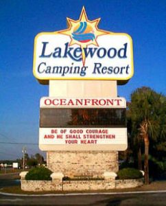 Message Center Sign for Resort